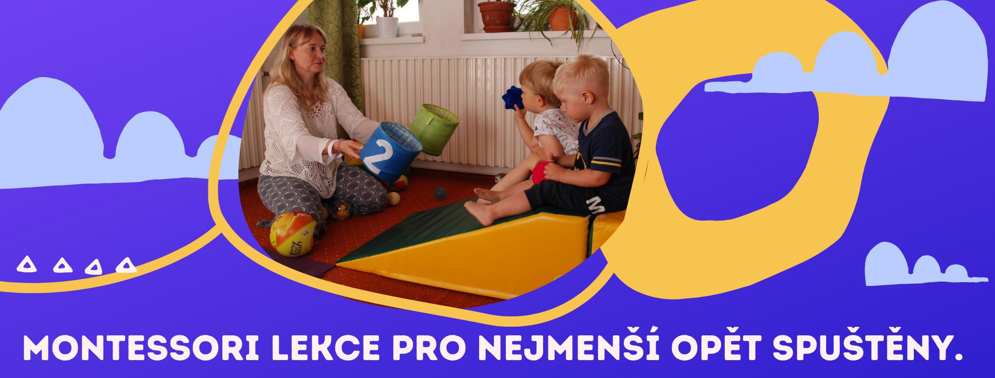 banner Montessori lekce pro nejmenší